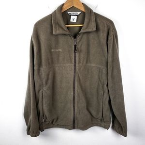 Columbia | Sand Tan Full Zip Mens Fleece Jacket L